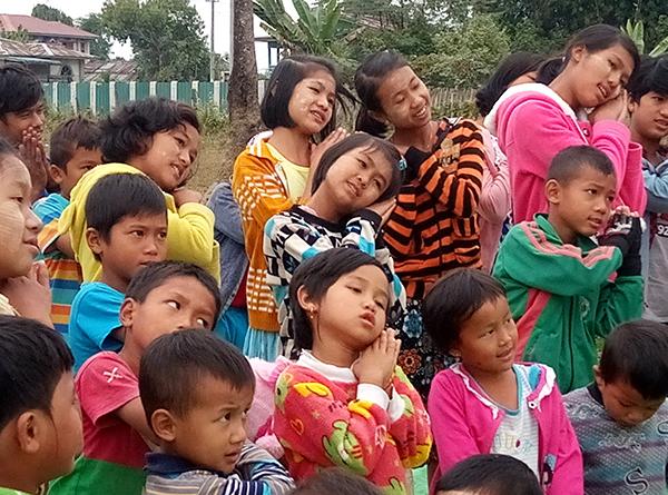 Kachin children at a Good Life Club program in Kachin State.
