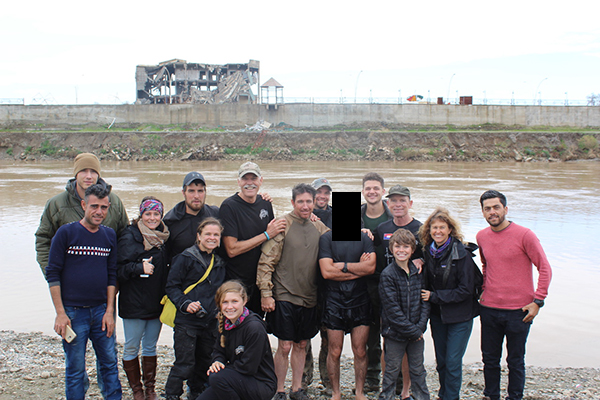 The Iraq Ranger team with it's newly baptized members.