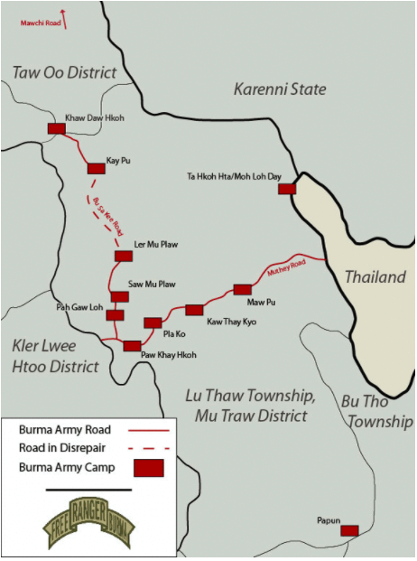 A map of Luthaw Township from our 2013 report.