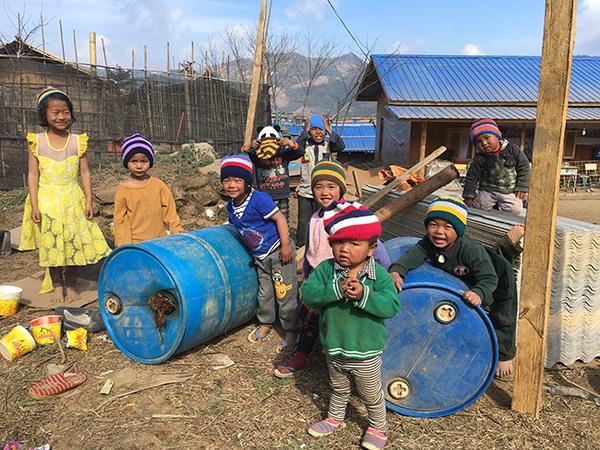 Children in Sha It Yang IDP camp, 2018.