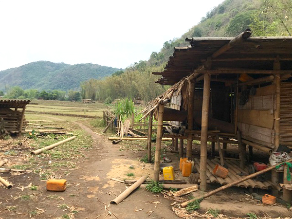 Abandoned village in Ler Moo Paw valley, Karen State.