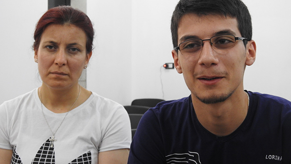 The Christian mother and her son, Baran, tell their story of fleeing Afrin.
