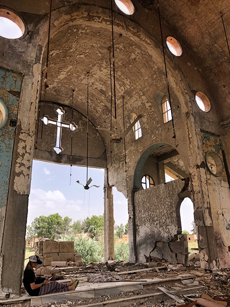 The church destroyed by an ISIS car bomb.