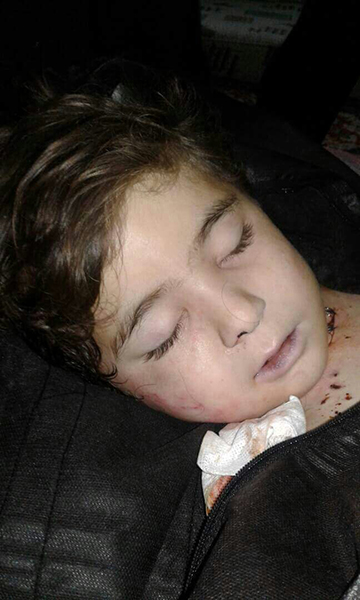 The niece, Riven Khandofan Hamdoush, shot dead by FSA militants.