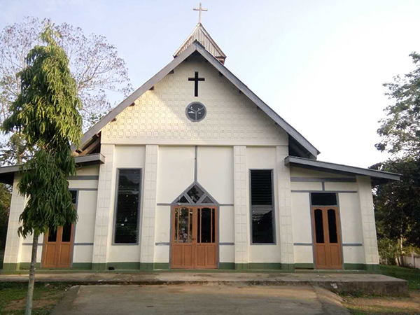 Roman Catholic (RC) Church in Kamaing Kawng Ra Village, Hpakant Township, that the Burma Army attacked.