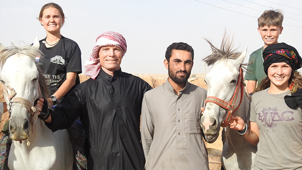 With Bedouin friends