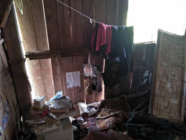 Inside one of the buildings that was damaged in the attack.