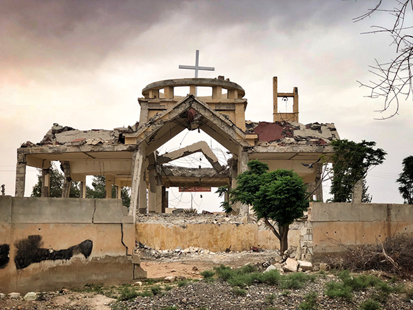 Destroyed church in Tabqa
