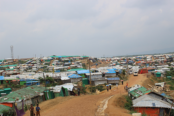 One of the many refugee camps that now exist in southern Bangladesh.