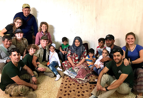 Eman with her family and our team in Mosul on 1 October 2018.