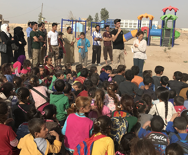 The Free Burma Rangers team hosting a Good Life Club program for children in Syria.