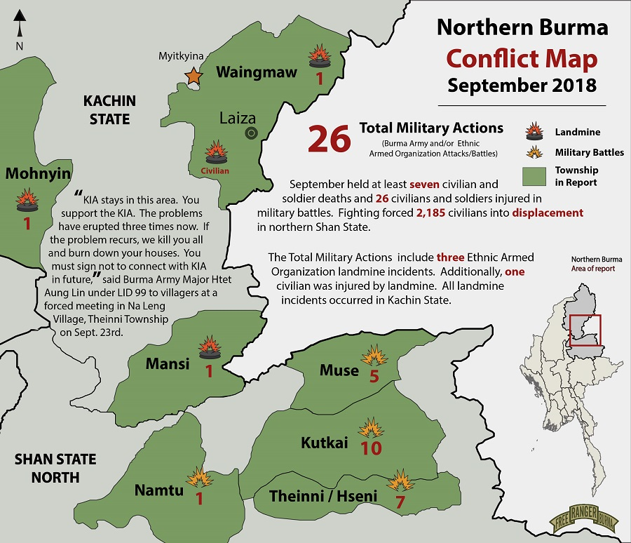 Progressive Voice » Clash Summary: Chaos Reigned in Northern ... on northern california state counties map, karen state myanmar map, kayin state myanmar map, northern part of united states map, mon state myanmar map, rakhine state myanmar map, chin state myanmar map,
