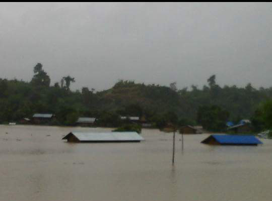 Flooding in the Naga region.