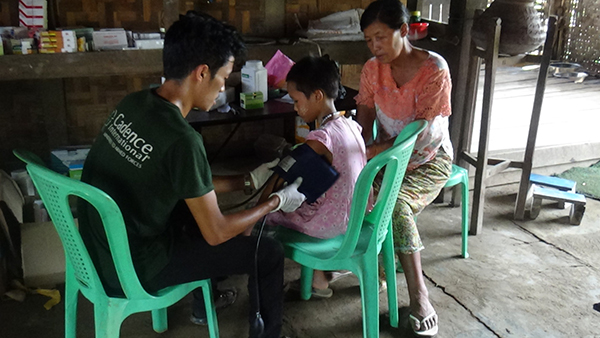 FBR Medics provide clinic services to villagers affected by flooding.