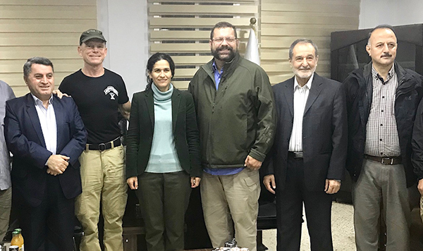 Congressman Garrett, Dave, and leaders of the Syrian Democratic Council (SDC).