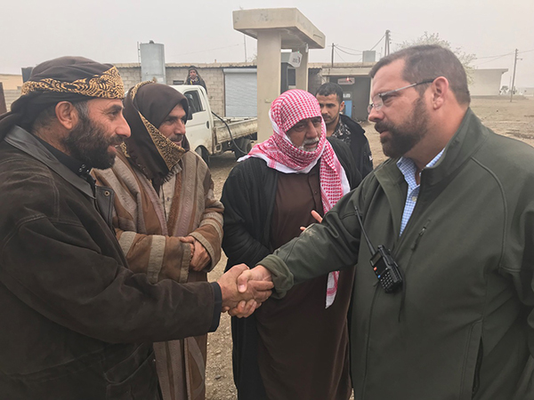 Congressman Garrett meets local Arabs in Dier Ezoir.
