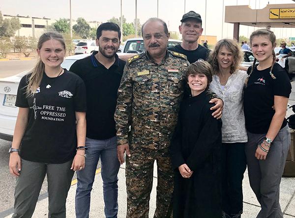 With General Mustafa in Basra, Iraq.