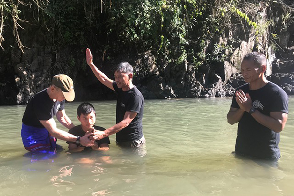 Five rangers were baptized just before graduation.