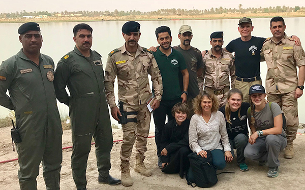 Reuniting with our Iraqi Army friends