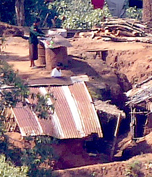 Bunker system in Maw Pu camp.