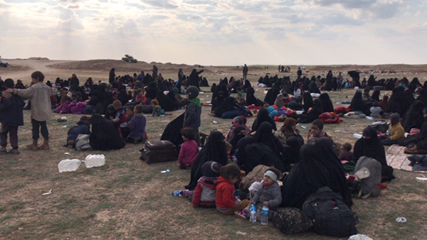 ISIS families who have fled Baghouz