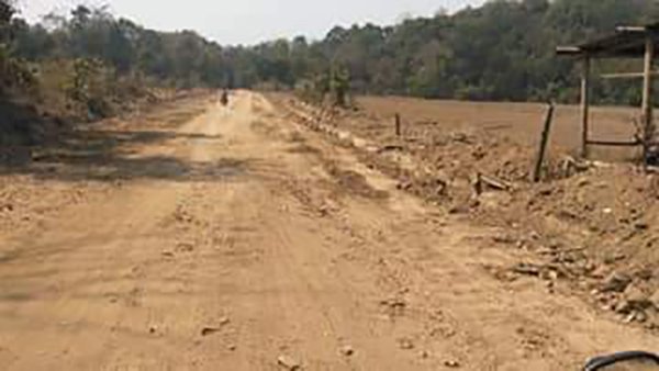 More of the road under construction by the Burma Army.
