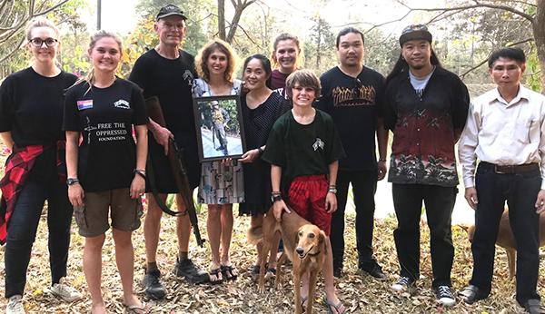 Col. Prachon's family and daughter-in-law Brett.