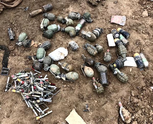 Grenades found in Baghouz.