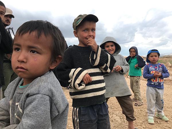 A few of the children in Al-Hol refugee camp.