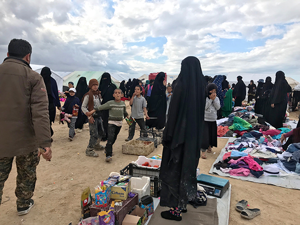 Over 70,000 people are now living in Al-Hol refugee camp, the majority of which are women and children.