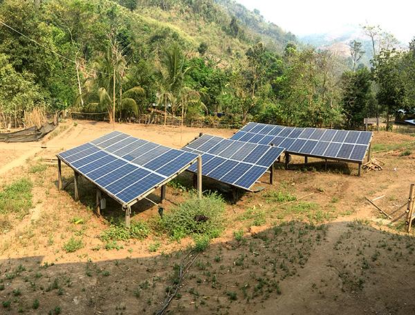 The solar panels at JSMK.
