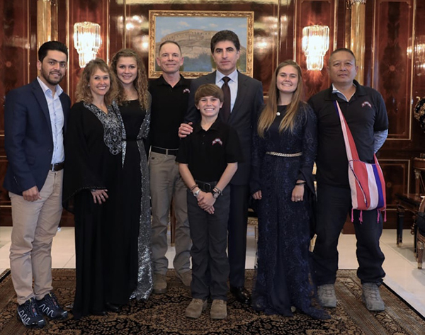 President Barzani with the Eubank family and Eliya and Dilshad from FBR.