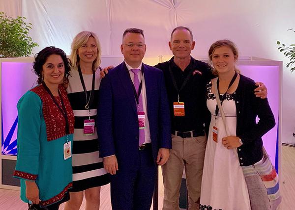 Pastor Brunson, his wife Karen, Erica Kasraie, Suu and I.