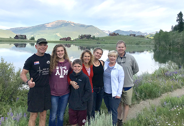 With the Stallings' who hosted our board meetings in Crested Butte, CO.