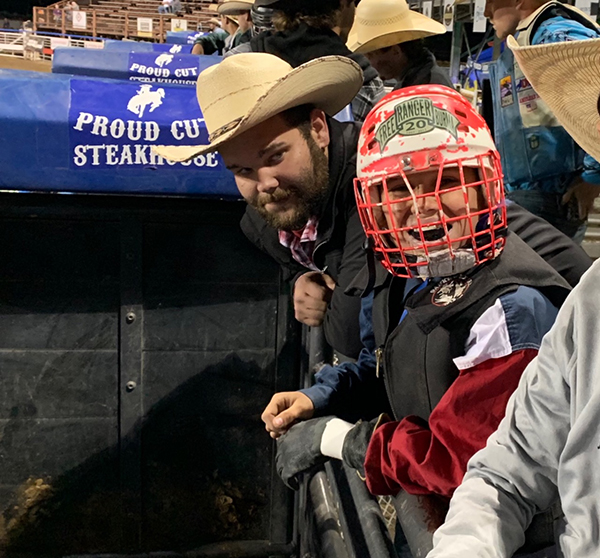 Pete in his element at the rodeo!