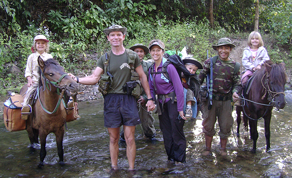 The Eubank family while on mission in Burma.