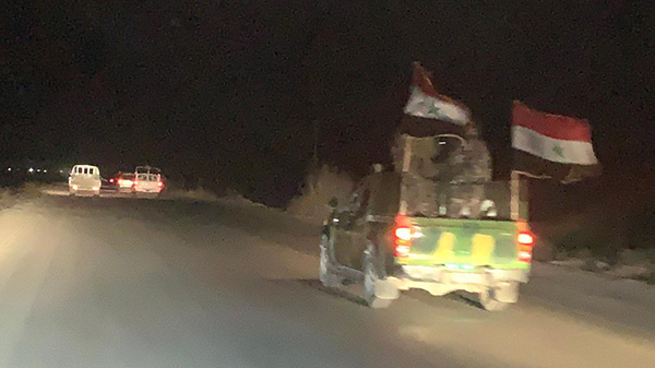 Assad's army on the move, 25 Oct. 2019.