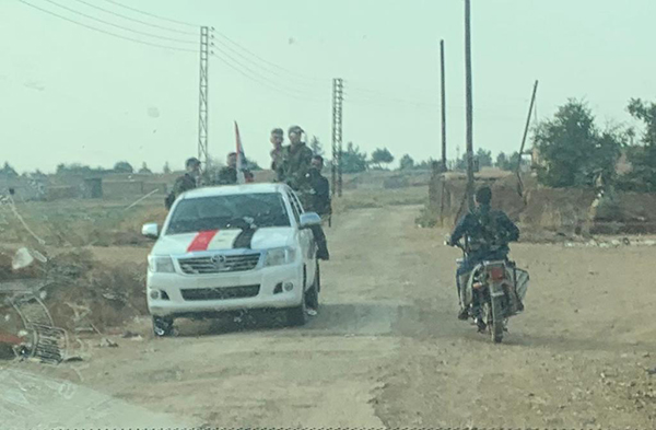 Syrian Army forces arrive