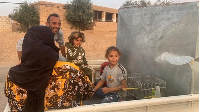 Refugees near Sari Kani, Syria