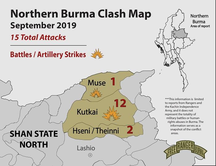 Northern Burma Clash Map September-01