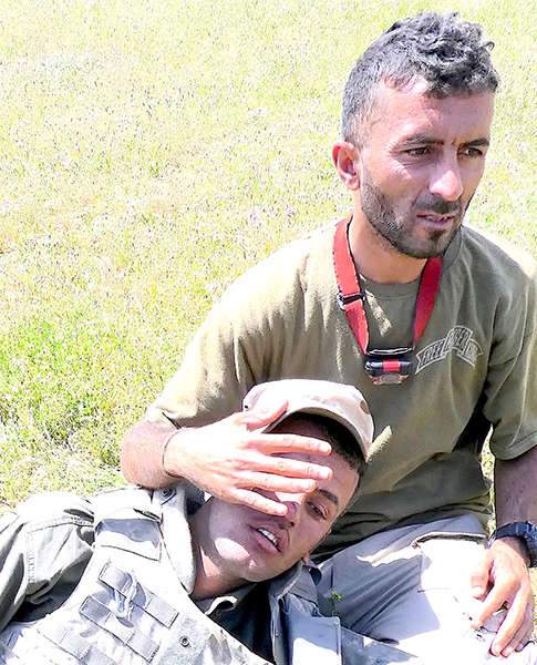 Shaheen, our Yezidi translator who died from sniper wound complications he got while saving a Muslim girl and her father who had been shot by ISIS.