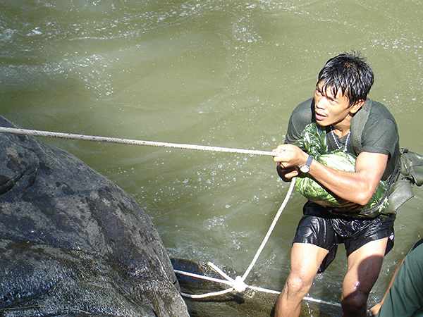 A young Zau Seng during TUW training camp