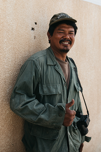 Zau Seng, our Kachin cameraman and medic who was killed during a Turkish-supported Free Syrian Army attack on 3 Nov. 2019. Please click the photo to watch a video made in honor of Zau Seng.