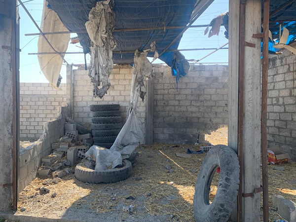 Damage after a Turkish drone strike on Nov. 16. The strike hit what had been a hiding spot for FBR ambulances earlier that day.