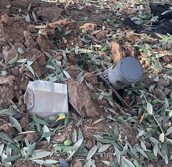 Turkish drone munitions, like the piece above pulled from a victim.