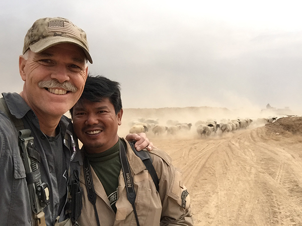 Paul and Zau Seng during a Middle East mission