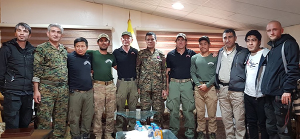 Some of the FBR team meeting with the SDF General.