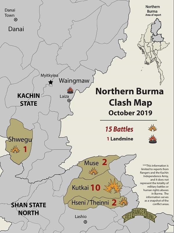 Northern Burma Clash Map October 2019-01