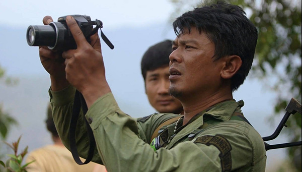 Zau Seng filming in Burma