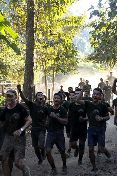 Dave Eubank leads the rangers during the annual Ranger Run
